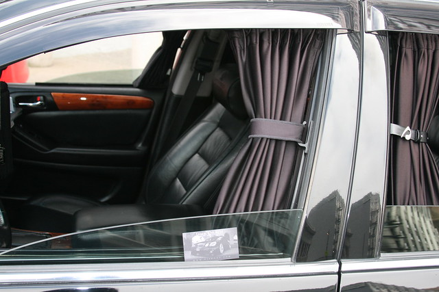 car interior with curtains flickr photo sharing. Black Bedroom Furniture Sets. Home Design Ideas