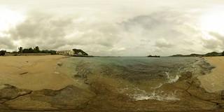 Baie de La Potence の画像. sea panorama beach saintmartin 21 tripod gimp plage 360° 360°x180° hugin enblend equirectangular 303sph galisbay