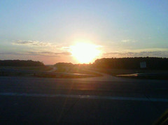 Sunset at the exit