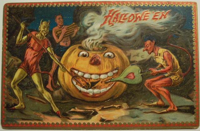 vintage halloween postcard flickr photo sharing. Black Bedroom Furniture Sets. Home Design Ideas