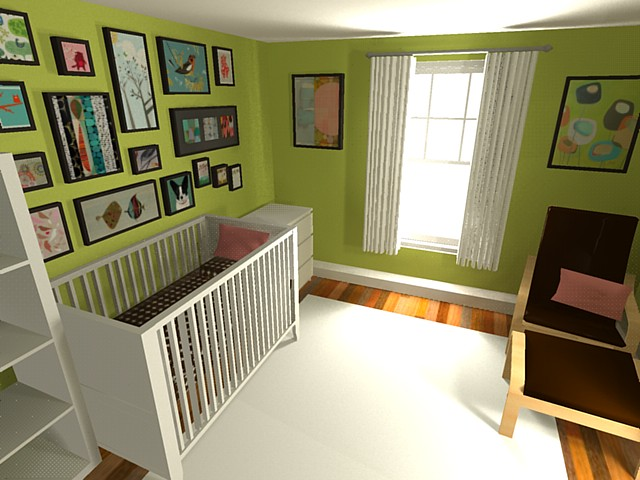 Ikea Toddler Bed With Canopy ~ Nursery  Google Sketchup 3D  We have the IKEA Gulliver cri