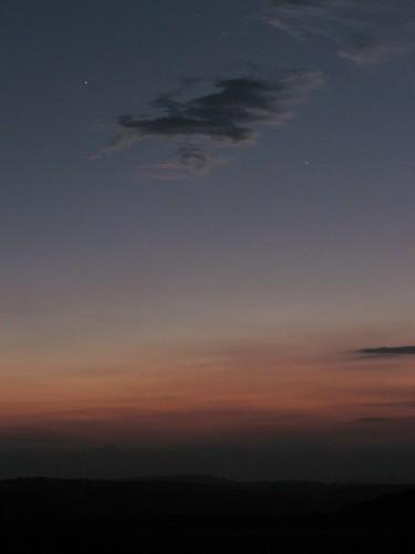 sunset sun mist mountain sol night virginia haze dusk hill blueridgeparkway blueridge rockyknob theparadigmshifter