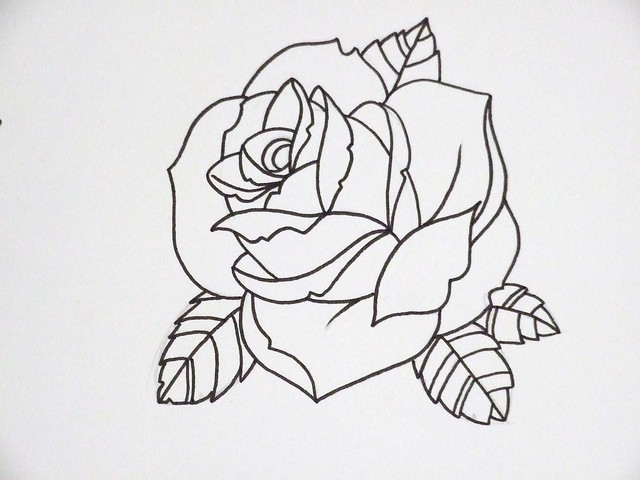 rose outline 3 | Flick...