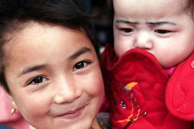 タシュクルガン、ウイグル族の子ども