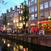 Amsterdam - the red light district at nightfall