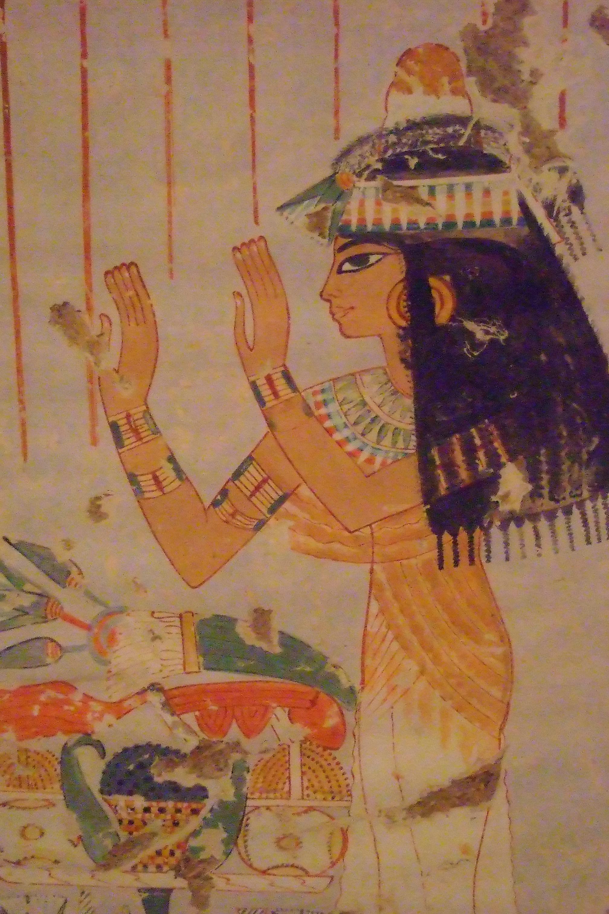 ancient egyptian murals at the metropolitan museum of art