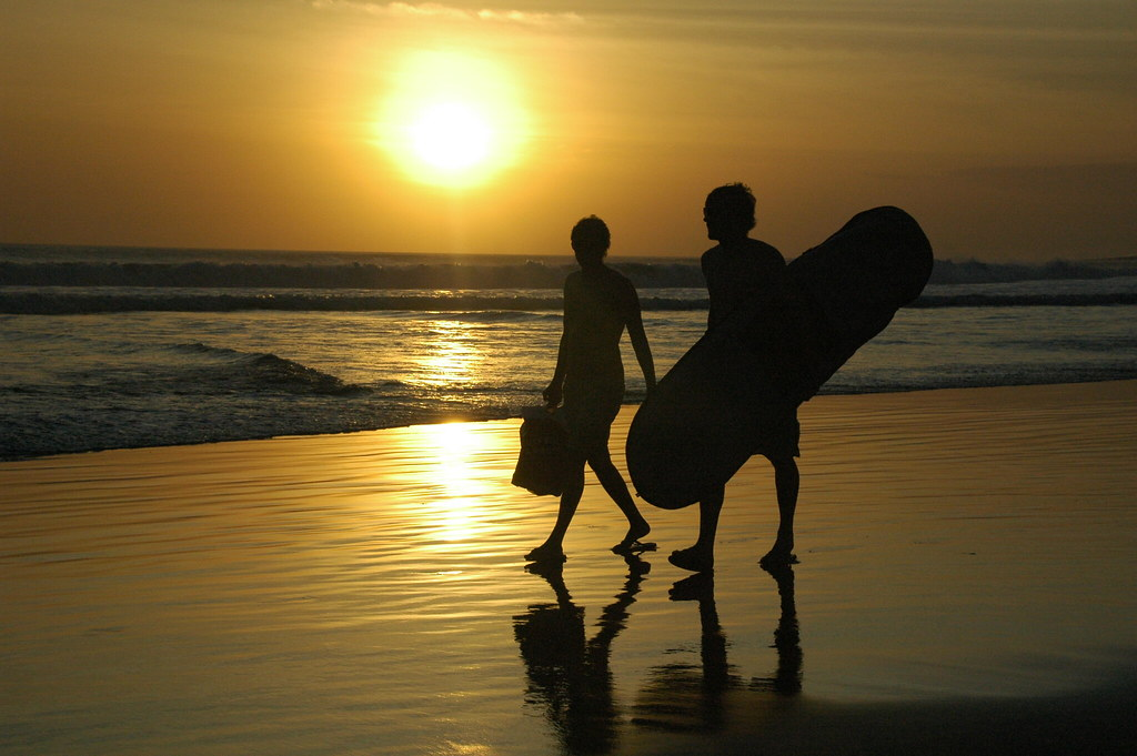 Sufers at Sunset Kuta