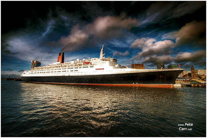 The QE2 in Liverpool