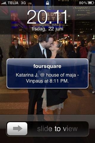 Katarina checkar in hos Maja