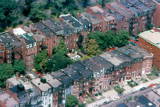 Boston - Back Bay Townhouses from Prudential Tower