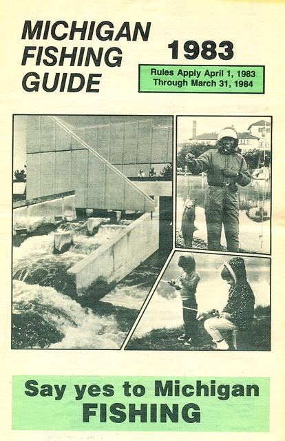 1983 michigan fishing license guide 1983 michigan for Fishing license michigan
