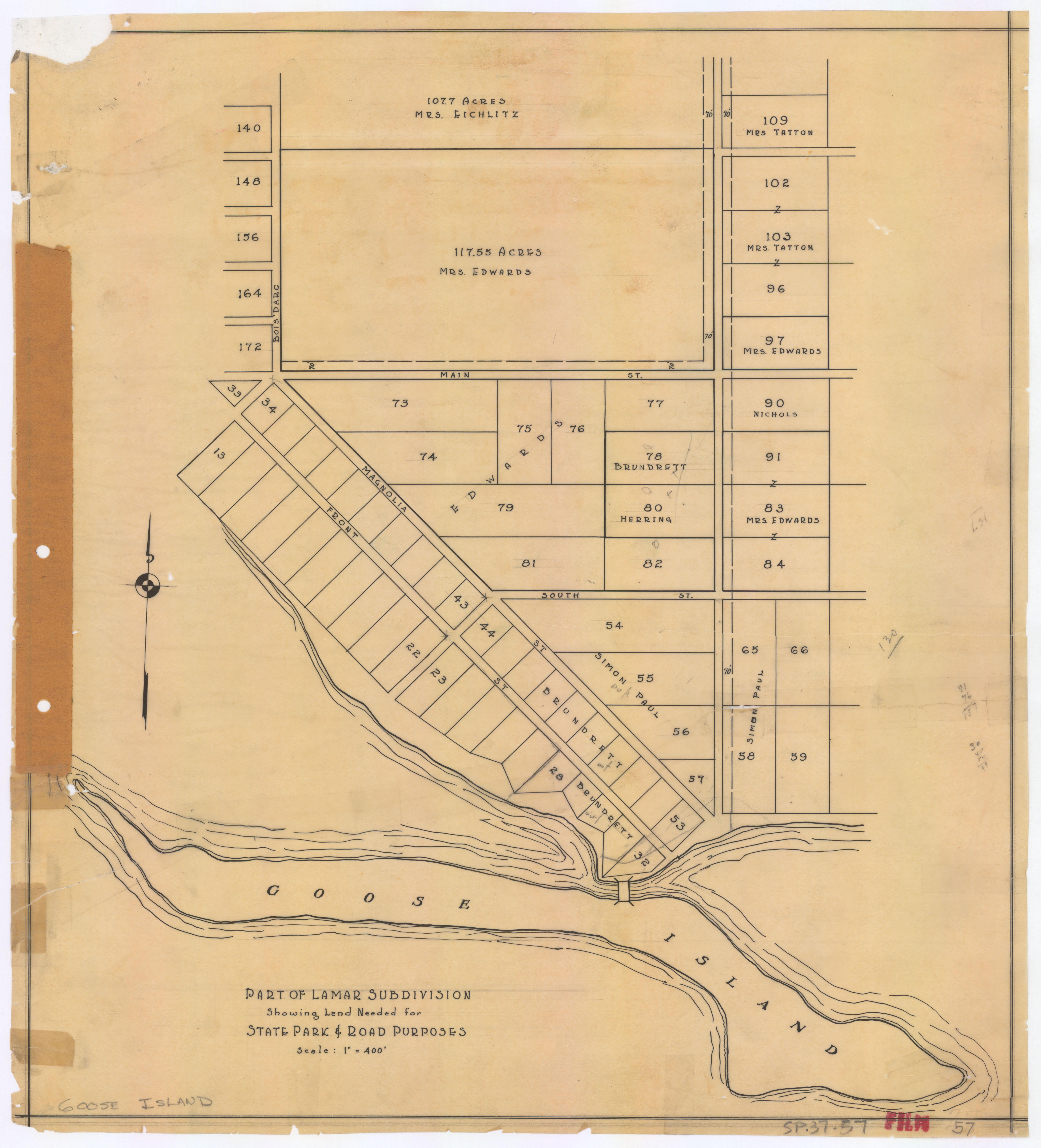 Goose Island State Park - Part of Lamar Subdivision - SP.37.57