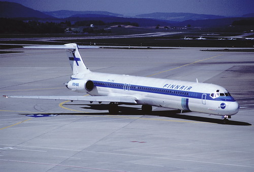 34cb - Finnair MD-82; OH-LMW@ZRH;07.08.1998
