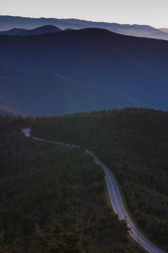 statepark road sunset mountains 50mm nc northcarolina blueridgeparkway blueridge 50mmf14 mtmitchell d40