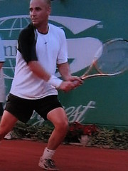 Agassi - racket and shoes at French Open