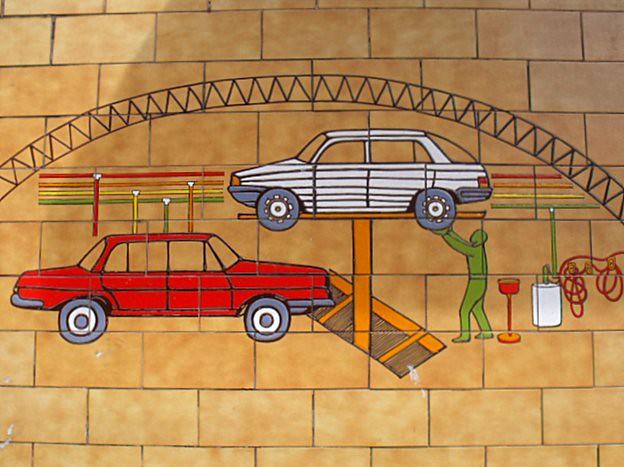 Funny vintage garage deco flickr photo sharing - Deco garage vintage ...