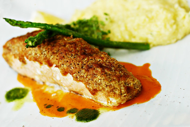 Hazelnut Crusted Salmon | Flickr - Photo Sharing!