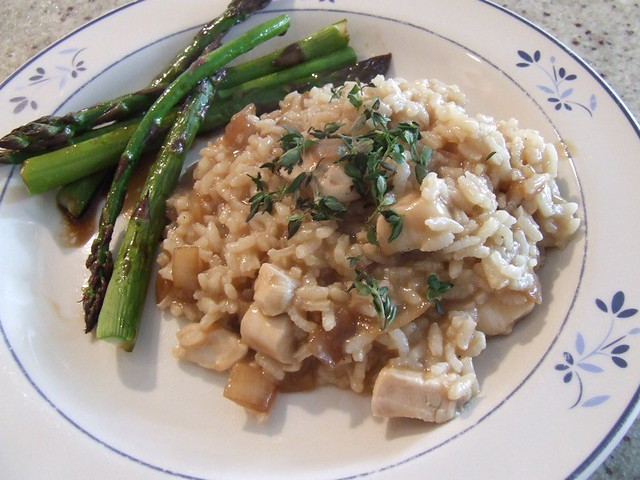 Roasted Chicken with Risotto and Caramelized Onions | Flickr - Photo ...