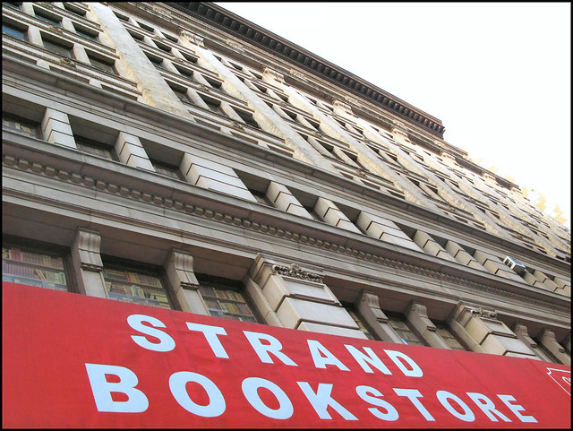 Outside Facade of Strand bookstore in NYC