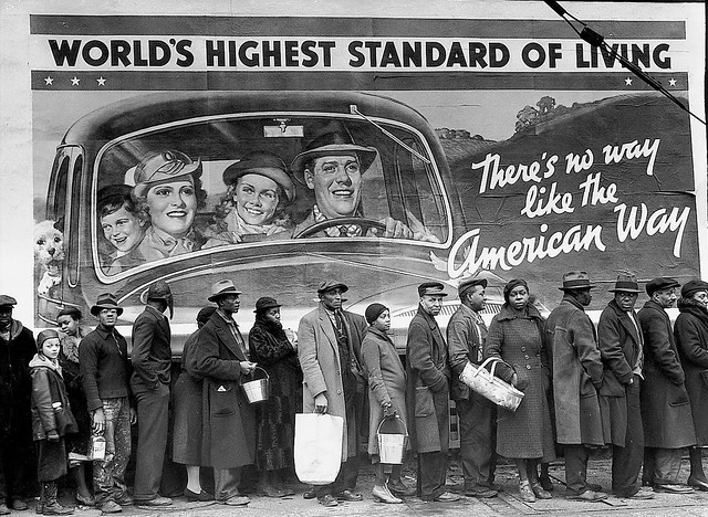 The Louisville flood, by Margaret Bourke White