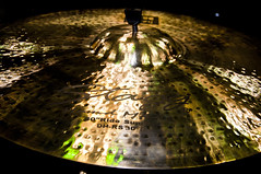 drums(0.0), musical instrument(1.0), light(1.0), reflection(1.0), cymbal(1.0),