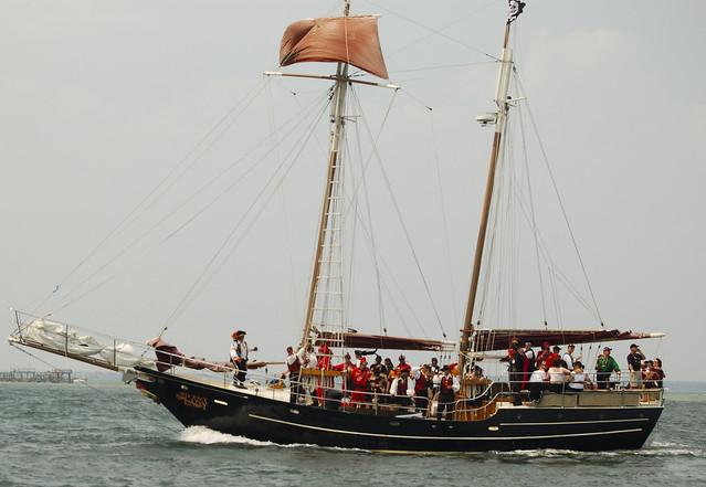A modern day pirate ship