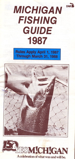 1987 michigan fishing license guide flickr photo sharing for How much is a fishing license in michigan