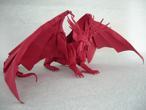 Origami ancient dragon tutorial satoshi kamiya (part 1.