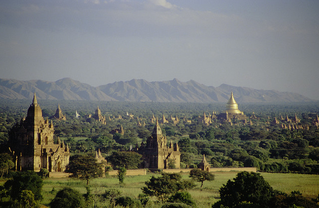 View over the plain of Bagan by CC user drepung on Flickr