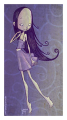 purple, costume design, fashion illustration, cartoon, illustration,
