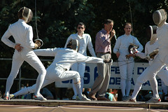 weapon combat sports(1.0), fencing weapon(1.0), individual sports(1.0), contact sport(1.0), sports(1.0), combat sport(1.0), fencing(1.0), foil(1.0),