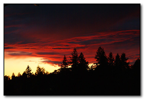 sunset red silhouette clouds oregon salem