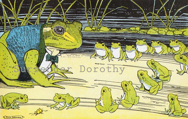 Frogs At School Print By Hugh Spencer Verse By George Coop Flickr Photo Sharing