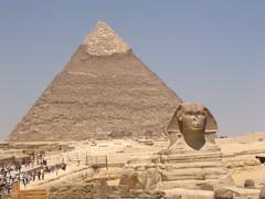Pyramid & Sphinx of Khafre/Chefren in Giza Egypt