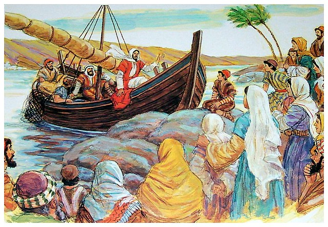 Jesus in a Boat Picture http://www.flickr.com/photos/7663207@N02/631826649/