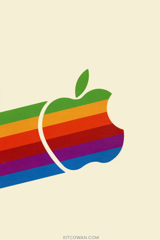 80's Apple Logo on the move by K!T