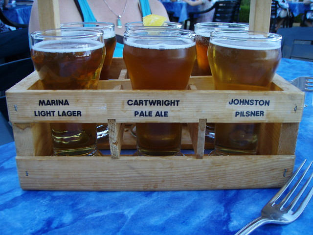 beer sampler at Dockside Brewing Company