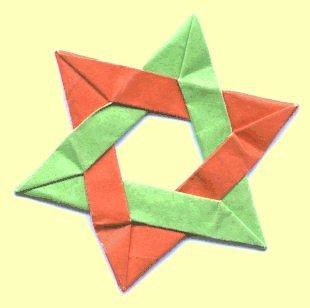 star of david origami a gallery on flickr
