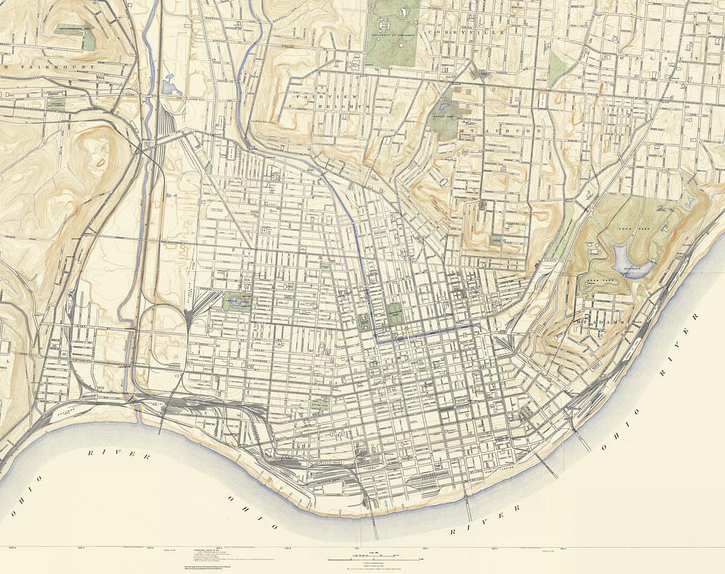 1914 Topographic Map of Cincinnati | 1914 edition of the 191… | Flickr