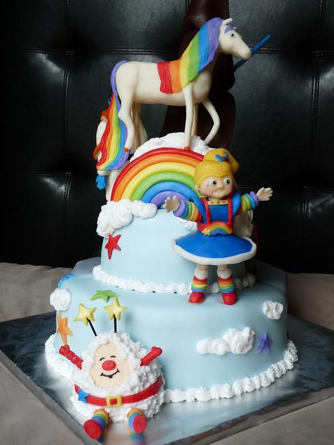 Rainbow Brite Birthday Cake