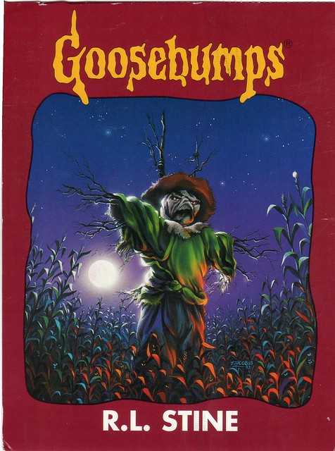 Goosebumps Book Cover Art : Art goosebumps book cover the scarecrow walks at midnight