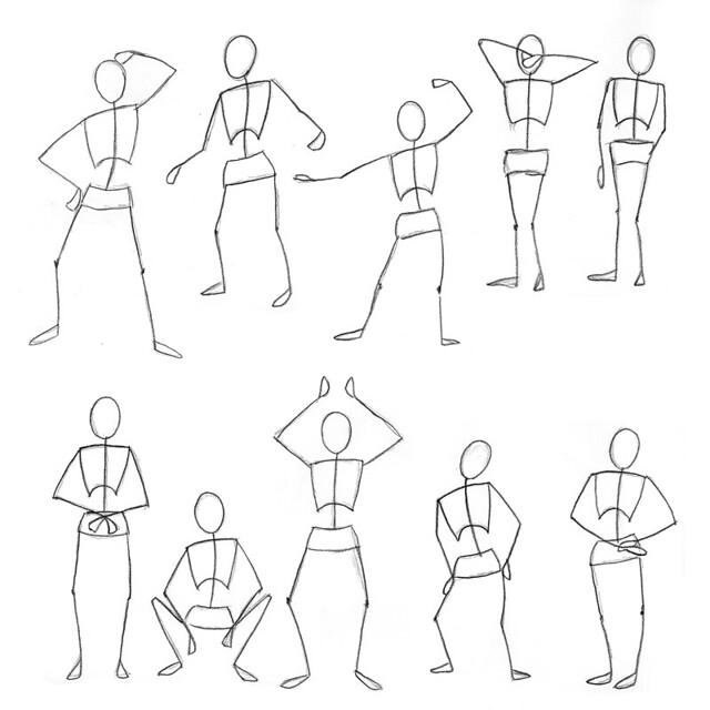 10 Stick Figure Drawings