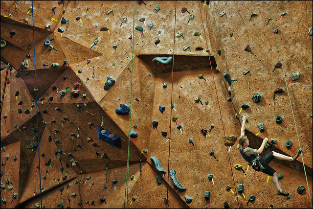 vertical endeavors wall climbing