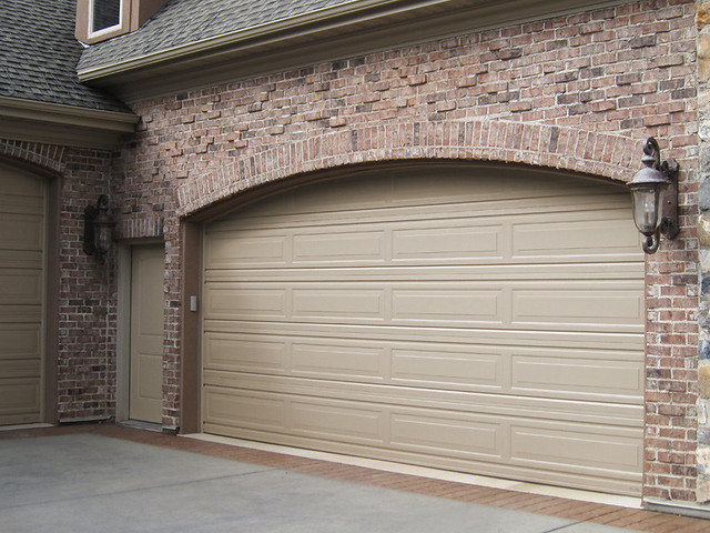 Garage Doors Long Panel Pebble Stone Color