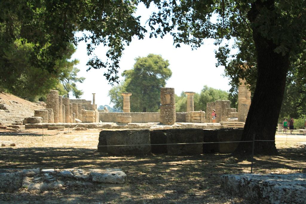Templo de Hera en Olimpia, uno de los templos griegos más antiguos