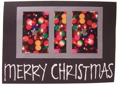 merry christmas lights and star