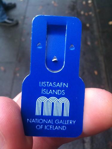 Toegangsbewijs Listasafn Íslands / National Gallery of Iceland