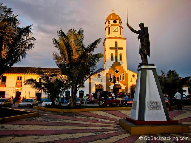 Salento's main church and plaza