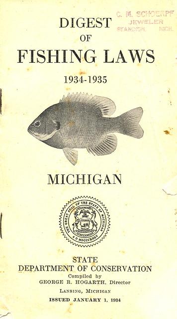 1934 michigan fishing license guide flickr photo sharing for Fishing license mi