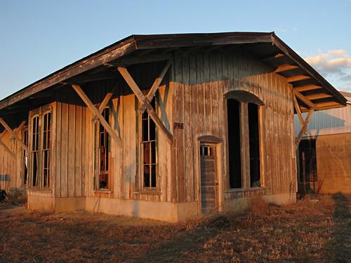 sunset newjersey nj faded trainstation salemcounty pilesgrove downjersey woodstowntrainstation